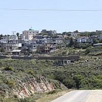 View of the Bedouin village of Aramsha in the Western Galilee, in April 2015 (Nati Shohat/Flash90)