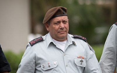 IDF Chief of Staff Maj. Gen. Gadi Eisenkot at the Glilot military base near Tel Aviv, March 28, 2018. (Miriam Alster/Flash90)