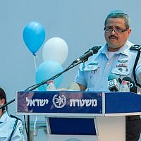 Israel Police Chief Roni Alsheich attends an inauguration ceremony for a newly opened police control center, in the northern district of Nazareth. June 21, 2018. (Meir Vaaknin/FLASH90)