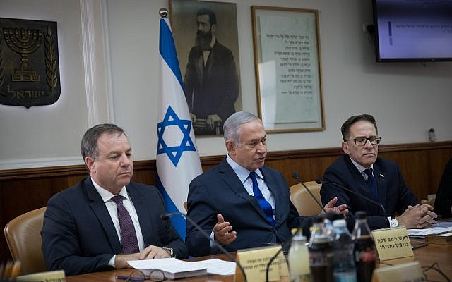 Prime Minister Benjamin Netanyahu leads the Ministers' Committee meeting regarding the promotion and integration of Israeli citizens of Ethiopian descent, at the Prime Minister's Office in Jerusalem, on September 17, 2018. (Hadas Parush/Flash90)
