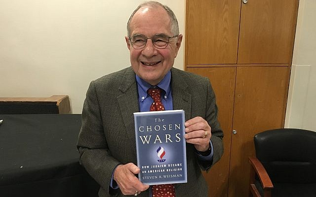 Steven R. Weisman, author of 'The Chosen Wars,' September 20, 2018 (Jordan Hoffman/Times of Israel)