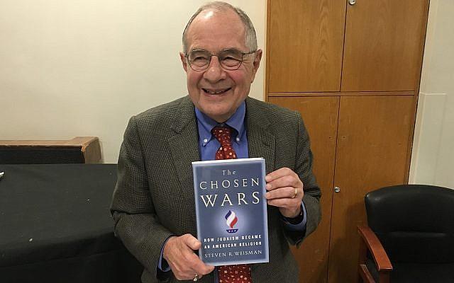 Steven R. Weisman, author of 'The Chosen Wars,' September 20, 2018 (Jordan Hoffman/Times of Israel)