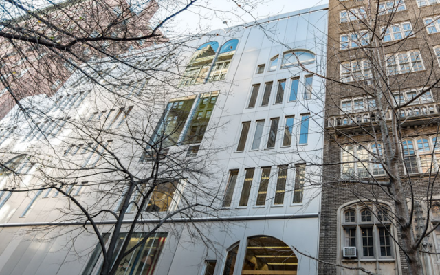 Illustrative: The Ramaz School's Morris and Ida Newman Education Center in New York City. (Manhattan Sideways via JTA)