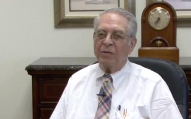 Former IRS commissioner Sheldon Cohen. (YouTube screenshot via JTA)