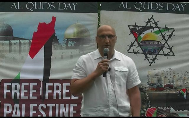 Dimitri Lascaris speaks at a rally in June 2018. (Screen capture/YouTube)