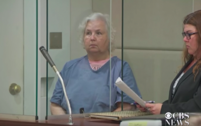 Oregon resident Nancy Crampton Brophy is arrested for the murder of her husband in September 2018. Screen capture: YouTube)
