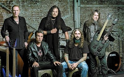 Sons of Apollo (l-r Billy Sheehan,  ‎Derek Sherinian, Jeff Scott Soto, Mike Portnoy and Ron 'Bumblefoot' Thal) will perform in Tel Aviv on September 26, 2018. (Northern Music via Raven Music)