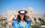 The virtual reality tour at the Tower of David Museum includes short and long tours during Sukkot 2018 (Courtesy Ricky Rachman)