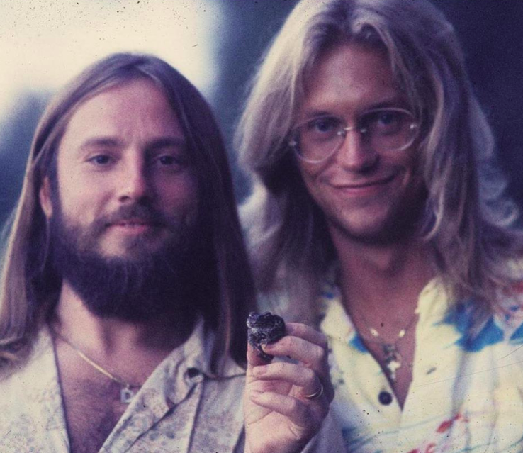 Bunnell (left) and Beckley, the long-time duo of America, back in the  1970s. when the band was still forming their soft rock sound (Courtesy  America)
