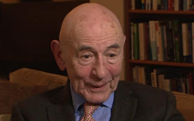 Psychologist Walter Mischel in 2015 (YouTube screenshot)