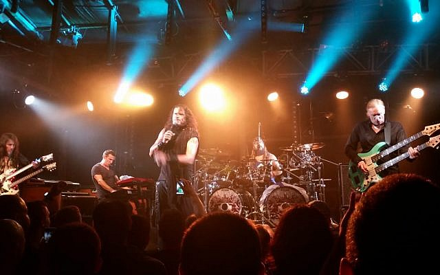 US rock band Sons of Apollo plays in Tel Aviv on September 26, 2018. (Doron Kimia, courtesy)
