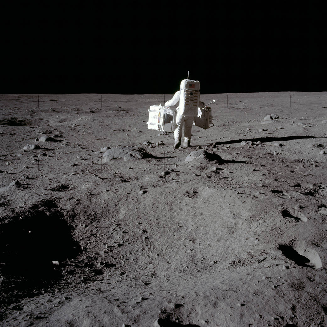 Mission Commander Neil Armstrong Documented The Lunar And Snapped This Image Of Module Pilot