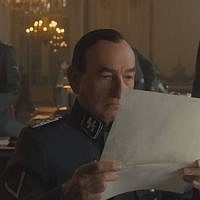 Ben Kingsley plays notorious SS officer Adolf Eichmann in 2018's 'Operation Finale.' (Screen capture: YouTube)