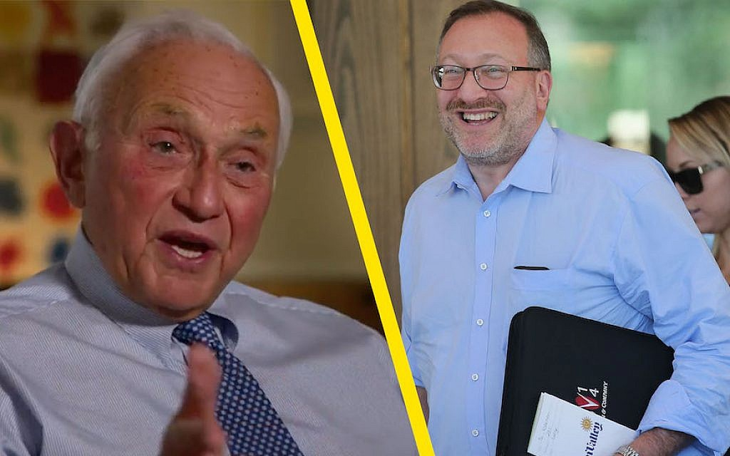 The move away from the Republican Party by Les Wexner, left, and Seth Klarman as the midterm elections near is being seen as greatly significant. (JTA Collage/Getty Images)