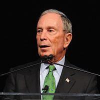 Michael Bloomberg in New York City, Dec. 4, 2017. (Craig Barritt/Getty Images via JTA)