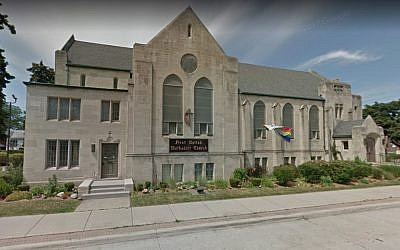 First United Methodist Church in Ferndale, Michigan. (Screen capture: Google Maps)