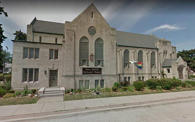 First United Methodist Church in Ferndale, Michigan. (Screen capture: Google Maps)