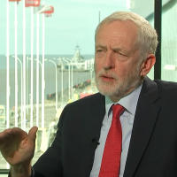 UK Labour leader Jeremy Corbyn refuses to answer if he regrets working for Iran's Press TV, September 25, 2018 (Screenshot via Channel 4 News)
