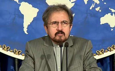Iranian Foreign Ministry Spokesman Bahram Qassemi (YouTube screenshot)