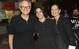 Director Avi Nesher (left), with his son, Ari and wife, Iris. Ari Nesher, 17, died Thursday, September 27, after being seriously injured in a hit-and-run accident on Monday, September 24, 2018 (Courtesy Rafi Delouya)