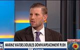 Eric Trump speaks to 'Fox and Friends' on September 12, 2018. (screen capture: YouTube)