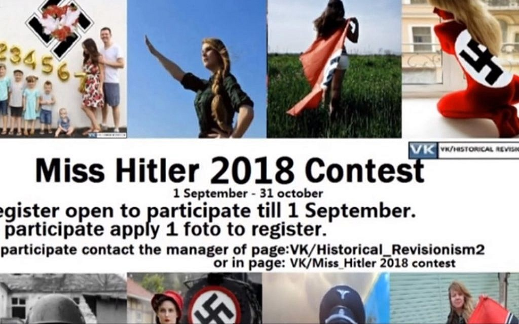 Russian social media network takes down page of 'Miss Hitler' beauty pageant