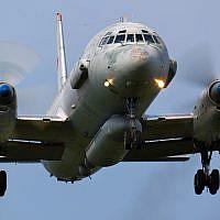 A Russian military Ilyushin IL-20 landing at Kubinka air base on June 3, 2011. (Artyom Anikeev/iStock/Getty Images)