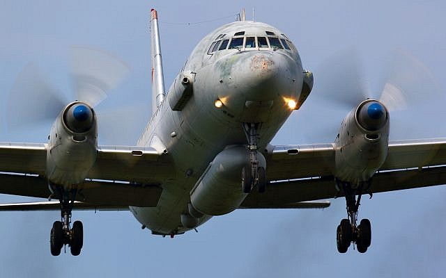 A Russian military Ilyushin IL-20 landing at Kubinka air base on June 3, 2011. (Artyom Anikeev/iStock/Getty Images)