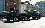 An S-200 air defense missile being paraded in Kaliningrad, Russia on May 9, 2008. (Dmitry Shchukin/iStock/Getty Images)