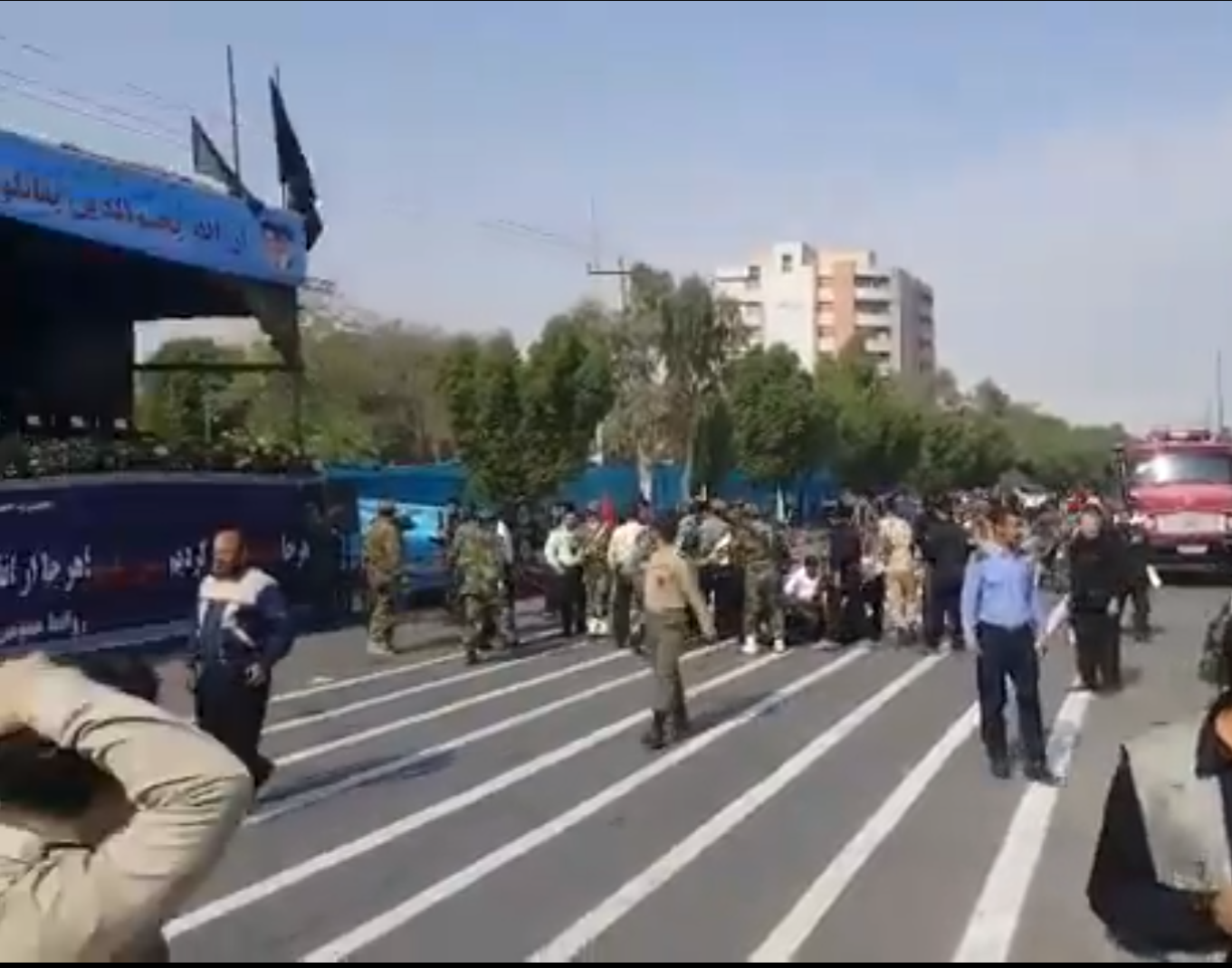 Casualties in shooting at military parade in southwest Iran