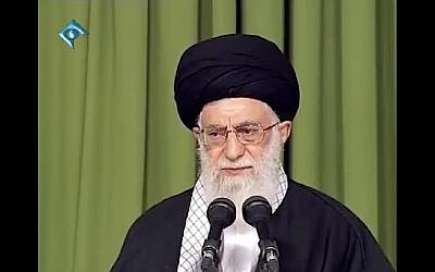 Ayatollah Ali Khamenei addresses a group of women in Tehran on September 1, 2018. (Screen capture: Khamenei.ir)
