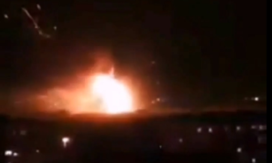 Series of blasts reported at Syrian military airport