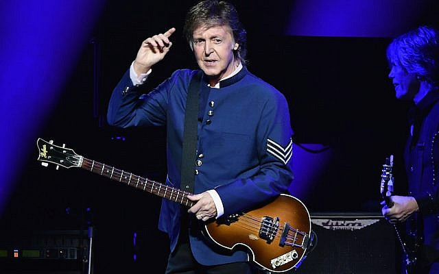 Paul McCartney performs in concert at American Airlines Arena on July 7, 2017 in Miami, Florida. (Gustavo Caballero/Getty Images via JTA)