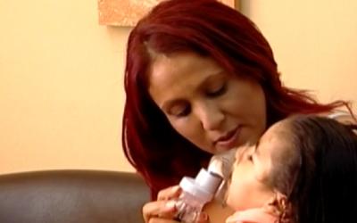 Aviva (L) and Noa (R) Haibi (Screenshot via Channel 10)