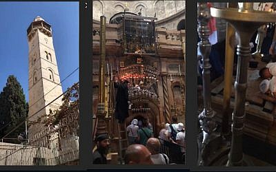 Stills from celebrity chef Godron Ramsay's Instagram videos of his trip to the Old City of Jerusalem on September 20, 2018. (Screen capture: Instagram)