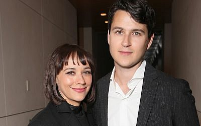 Actor Rashida Jones and musician Ezra Koenig attend UCLA IOES celebration of the Champions of our Planet's Future on March 24, 2016 in Beverly Hills, California.  (Photo by Todd Williamson/Getty Images via JTA)