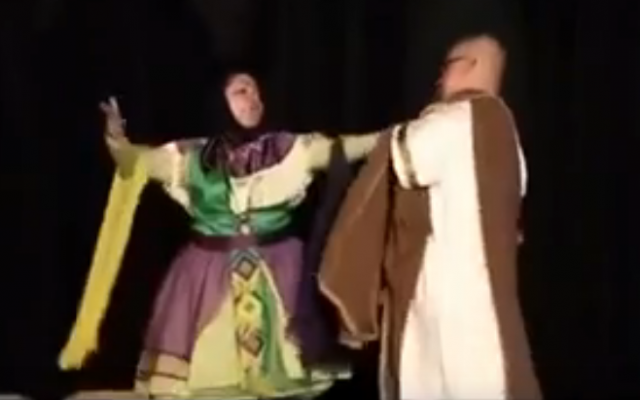 A man and woman are seen dancing together in a trailer for an Iranian production of 'A Midsummer Night's Dream' by William Shakespeare (YouTube screenshot)