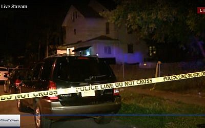 Scene of shooting in Syracuse, New York, on September 21, 2018. (Screen capture: Citrus TV)
