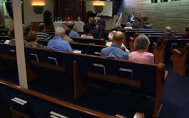 Temple Beth Or Synagogue in Raleigh, North Carolina. (Screen capture: ABC Eyewitness News)