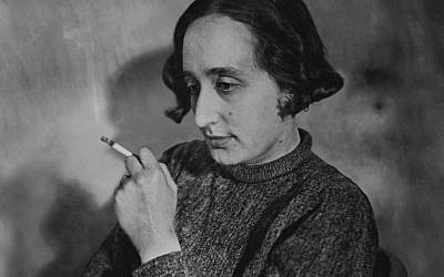 Self-portrait of Edith Tudor-Hart smoking. (Family Suschitzky)