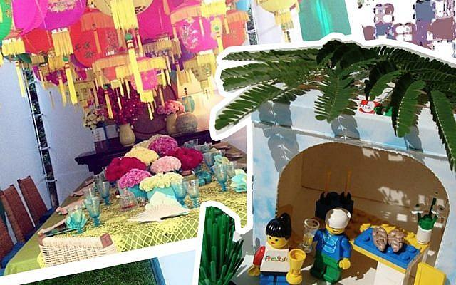 Collage of the best sukkot on Instagram. (JTA)