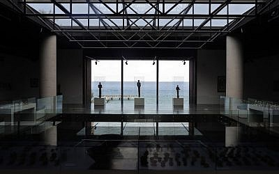 A view of Lebanon's Nabu Museum overlooking the Mediterranean Sea in the village of el-Heri, north of Beirut, on September 27, 2018. (Photo by JOSEPH EID / AFP)
