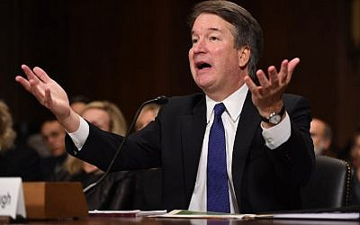 Supreme Court nominee Brett Kavanaugh testifies before the US Senate Judiciary Committee on Capitol Hill in Washington, DC, September 27, 2018. (AFP/Pool/Saul Loeb)