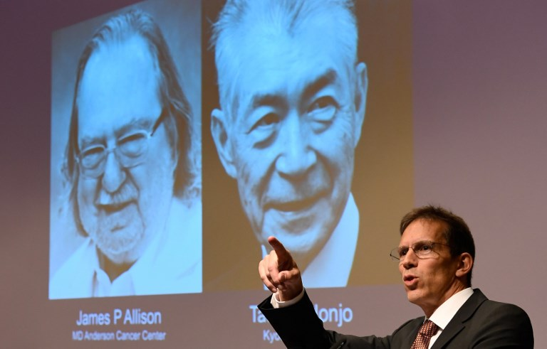 James P Allison and Tasuku Honjo win Nobel prize for medicine