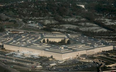 In this file photo taken on April 23, 2015 the Pentagon in Arlington, Virginia outside Washington, DC is seen in this aerial photograph. (AFP PHOTO / SAUL LOEB)