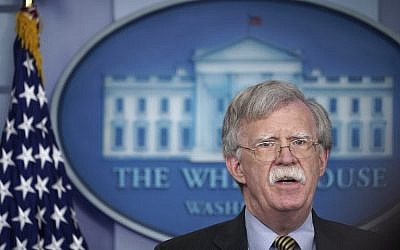 US National Security Advisor John Bolton speaks during a briefing in the Brady Briefing Room of the White House in Washington, DC on October 3, 2018 (AFP  / Mandel NGAN)
