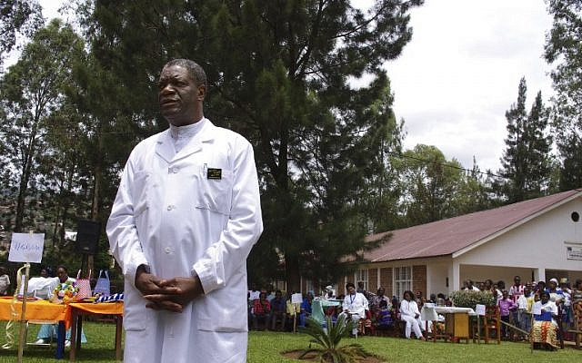 In this file photo taken on March 18, 2015, Congolese gynecologist Denis Mukwege poses at Panzi Hospital, on the outskirts of Bukavu, DR Congo. (AFP Photo/Marc Jourdier)
