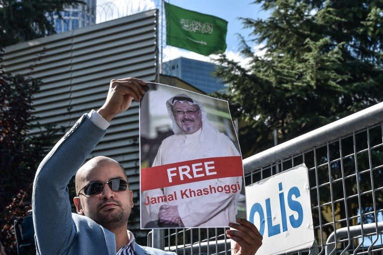Protest staged in Istanbul for missing Saudi journalist