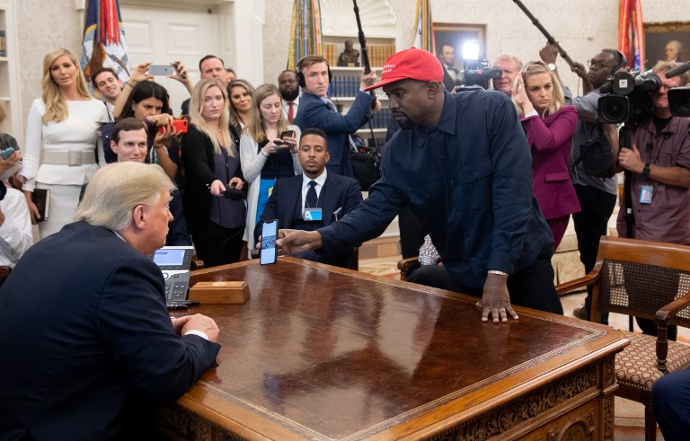 0d0fee45ed81e US President Donald Trump meets with rapper Kanye West