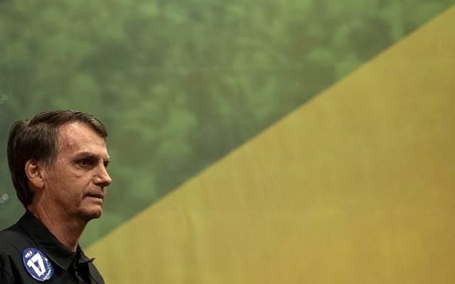 Brazil's right-wing presidential frontrunner says he's an